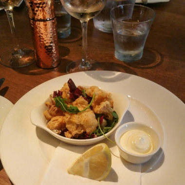 Calamari Deep Fried with Lemon Mayonnaise